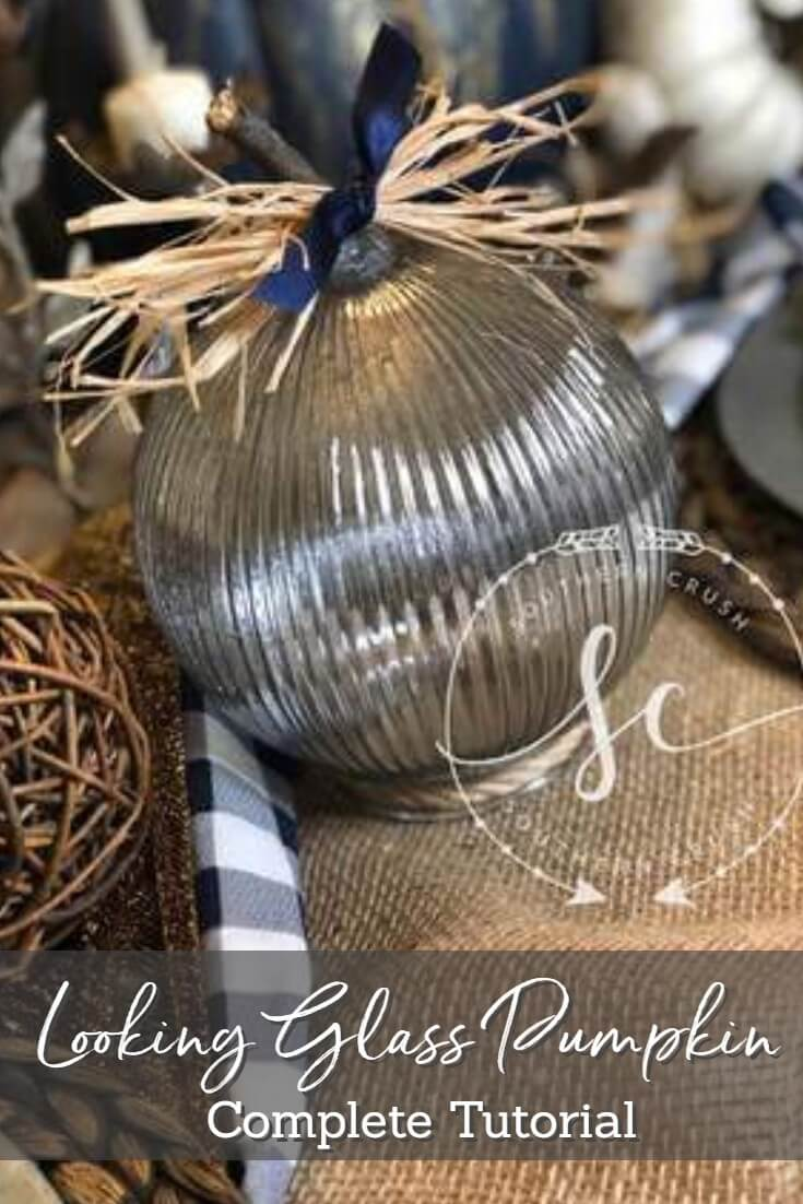 looking glass pumpkin complete tutorial - make your own rustic pumpkin