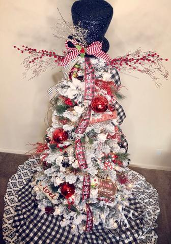 snowman christmas tree under fifty dollars