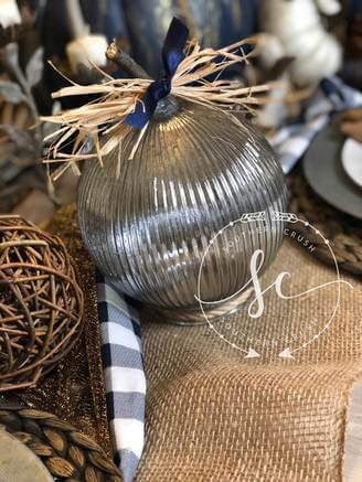 Rustic Pumpkin Decor Made Out Of Glass Bulbs (Pottery Barn Inspired)