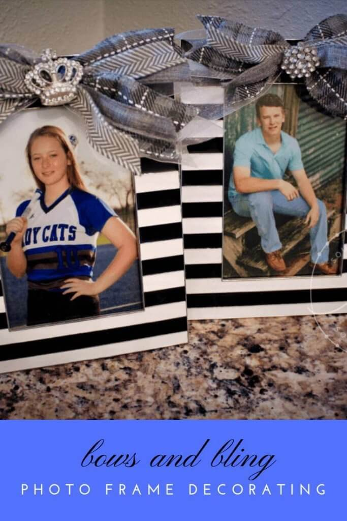Bows and Bling Photo Frame Decorating