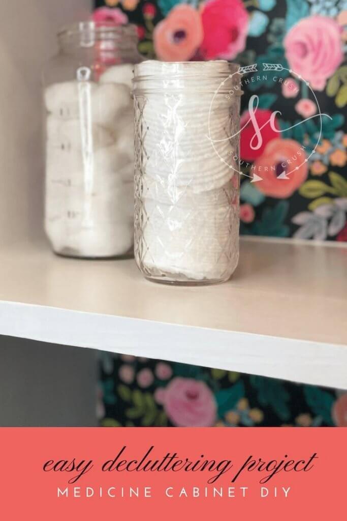 Medicine Cabinet Decluttering Easy DIY Project