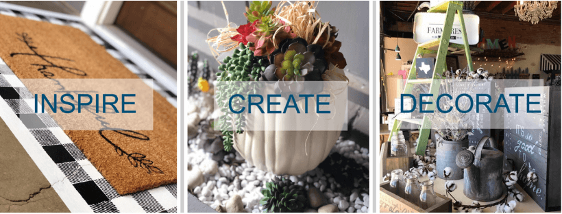Inspire Create Decorate DIY Home Decorating Joanna Gaines Vintage Farmhouse Crafting