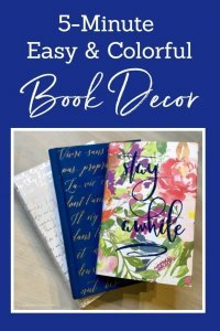 5 Minute Easy & Colorful Book Decor