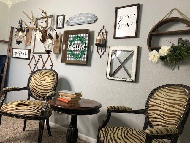 Buffalo Check Farmhouse Styled Gallery Wall preview angle