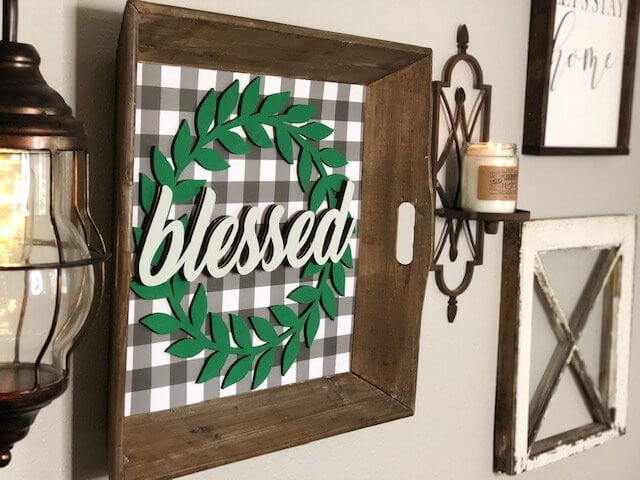 Buffalo Check Farmhouse Styled Gallery Wall preview blessed