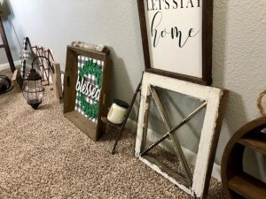 Buffalo Check Farmhouse Styled Gallery Wall preview planning