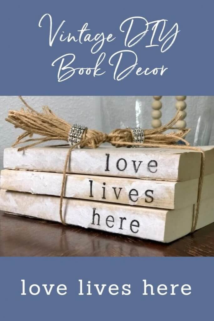 Hand Stamped Book Decor