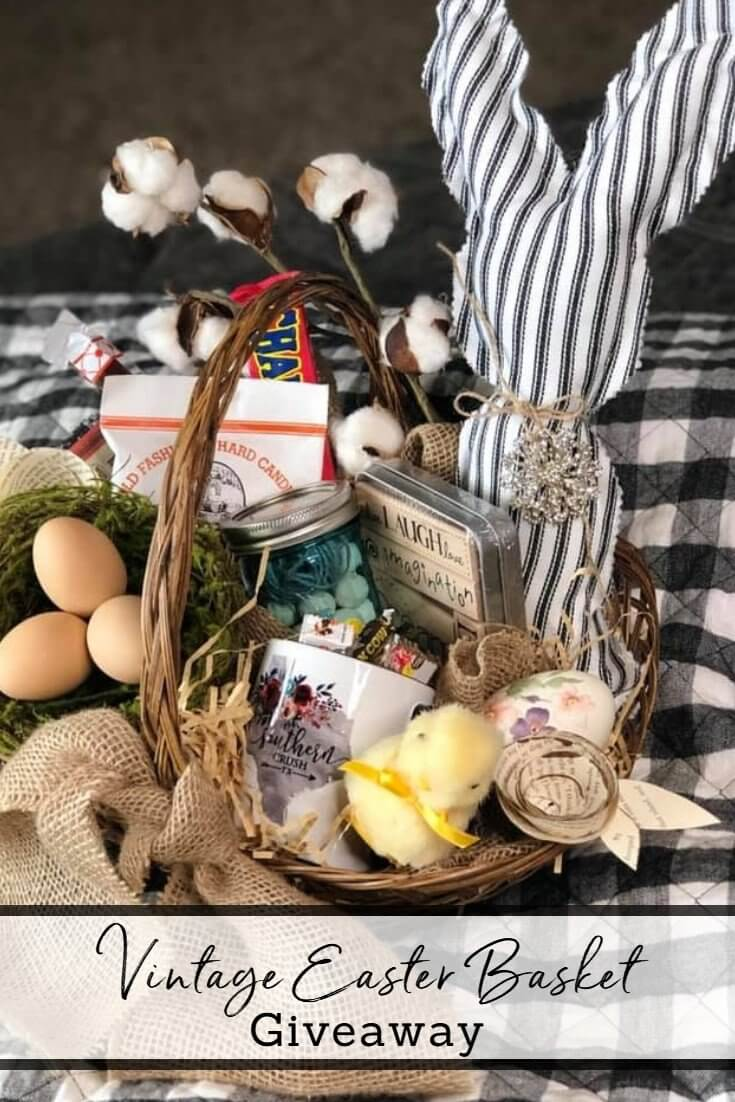 Vintage Easter Bunny Basket Giveaway!
