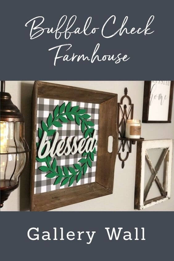 Buffalo Check Farmhouse Gallery wall