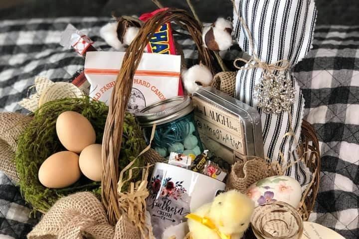 vintage easter bunny basket giveaway