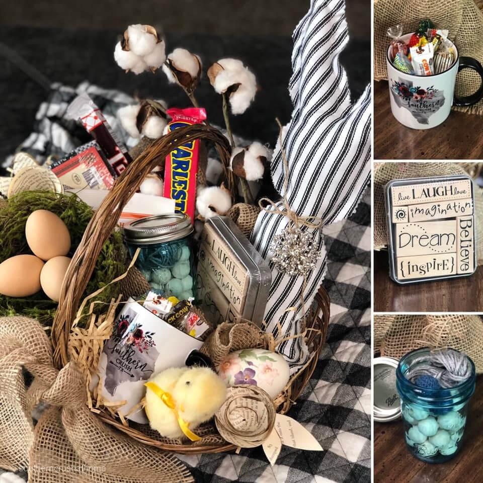 vintage easter bunny basket giveaway items