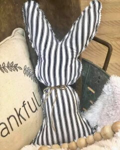 vintage cotton ticking bunny