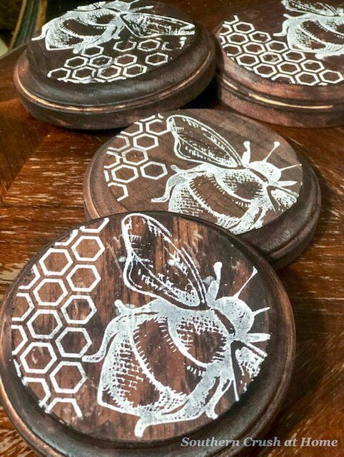 DIY Rustic Stained Coasters