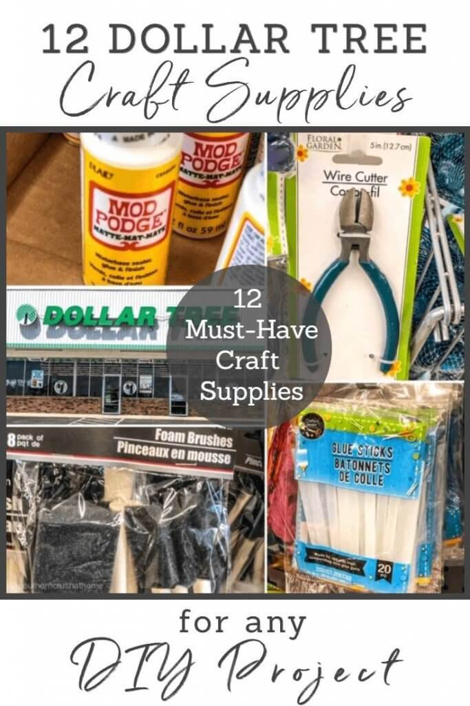12 craft supplies you need to buy for dollar tree crafts!