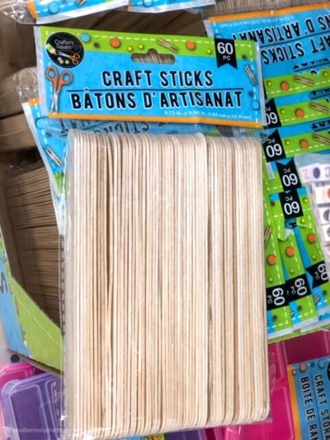 popsicle sticks from the dollar tree for crafting