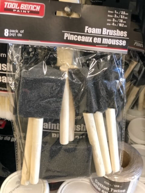 package of $1 foam brushes