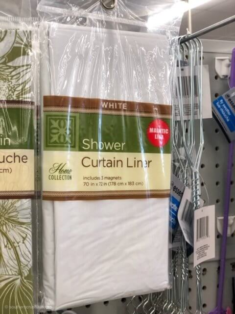shower liner from dollar tree