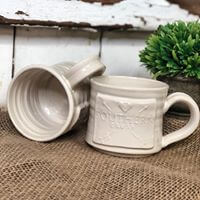 Hand thrown pottery Southern Crush mugs by Black Oak Art Waco TX