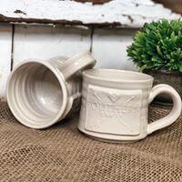 Hand thrown pottery Southern Crush mugs by Black Oak Art Waco TX