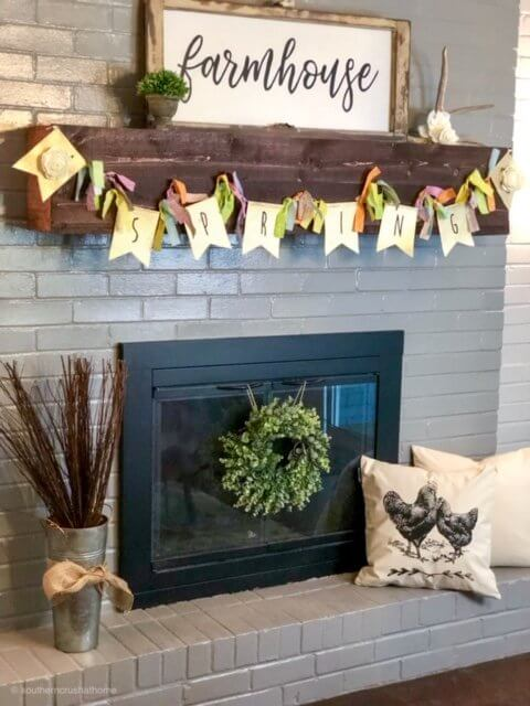 easy-diy-floral-spring-banner-fireplace