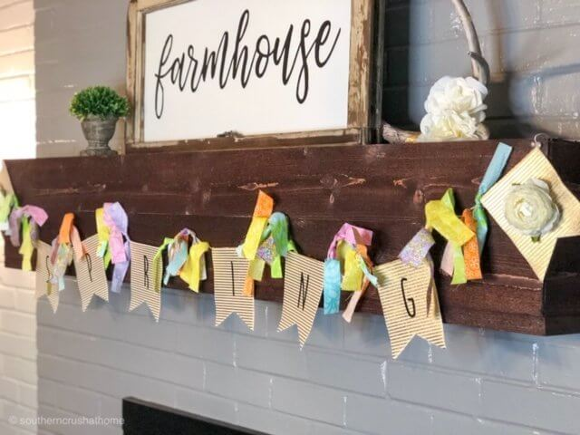 easy-diy-floral-spring-banner-mantle