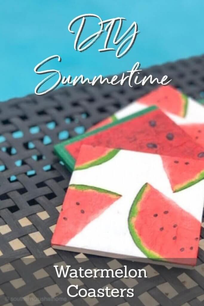 DIY Summertime Watermelon Coasters Poolside Pin
