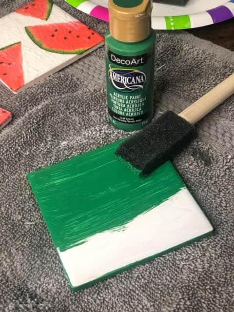 diy-watermelon-coasters-paint