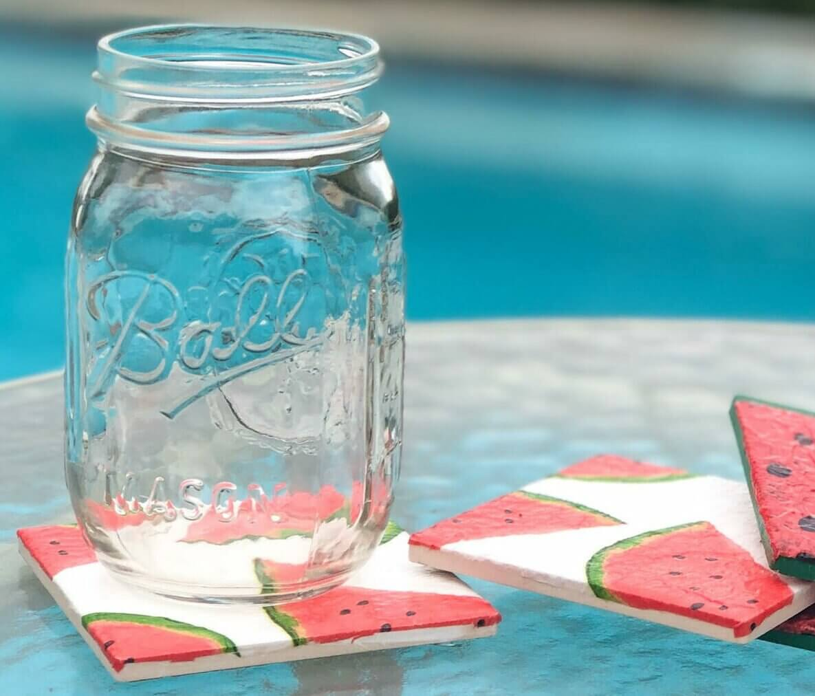 DIY Summertime Watermelon Coasters