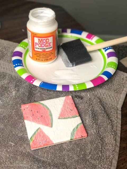 diy-watermelon-coasters-mod-podge