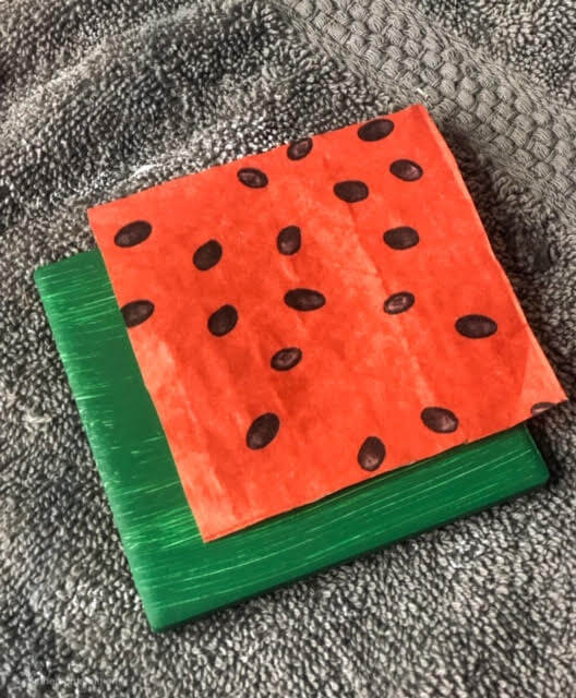 diy-watermelon-coasters-napkin-placement