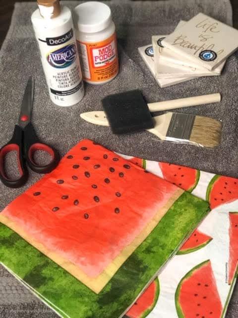 diy-watermelon-coasters-supplies