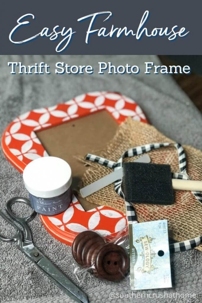 Easy Farmhouse Photo Frame pin