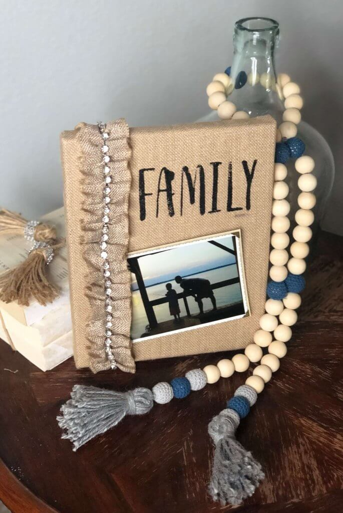 Easy-Two-Step-Burlap-Canvas-Photo-Frame
