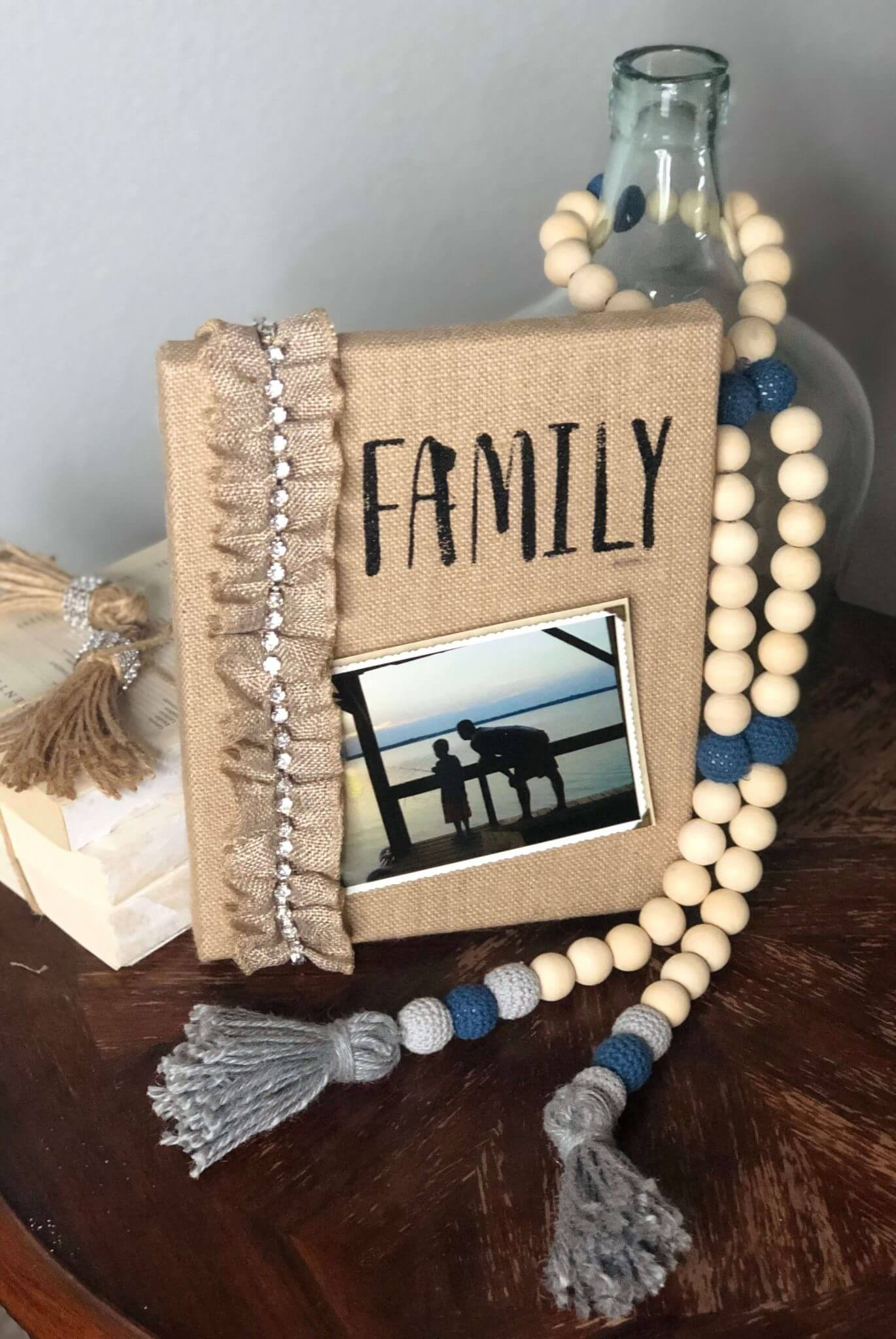 Easy Two-Step Burlap Canvas Photo Frame