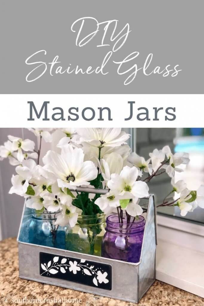 DIY Stained Glass Mason Jars