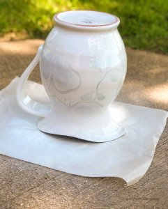 floral-pitcher-makeover-drying