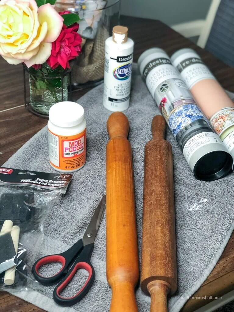 supplies for making decorative rolling pins