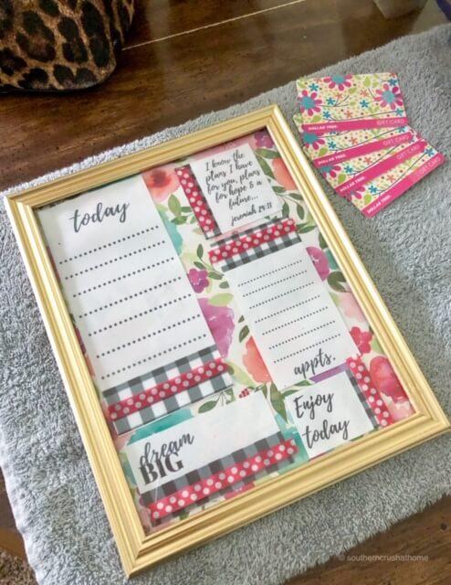 DIY Dry Erase Planner