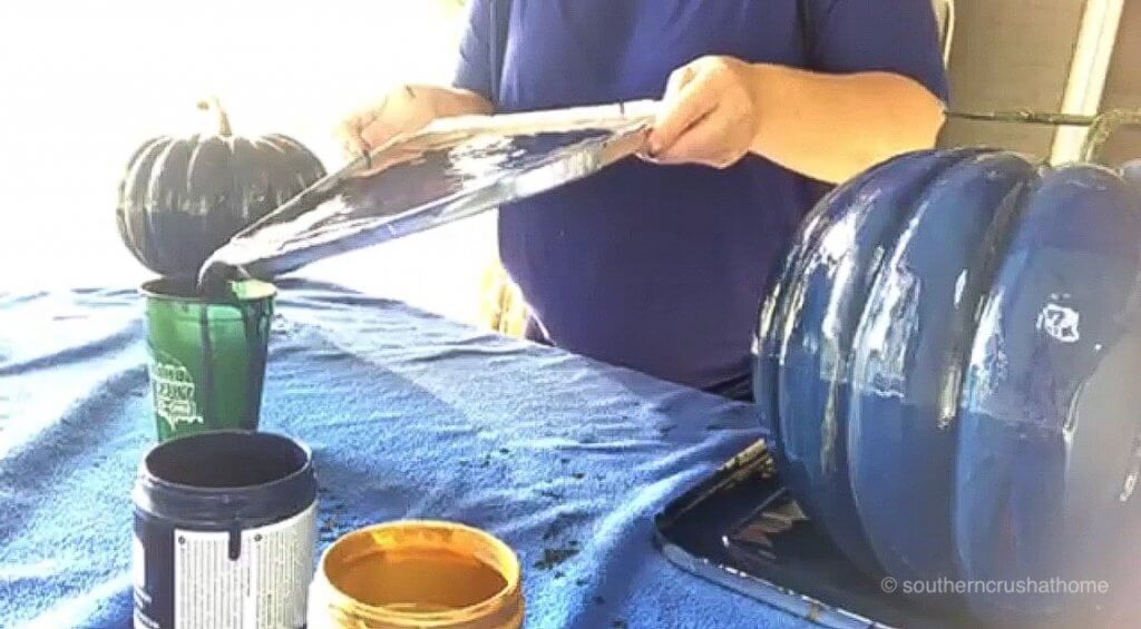 Pouring extra paint back into a cup