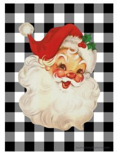 Southern Crush Vintage Santa Printable