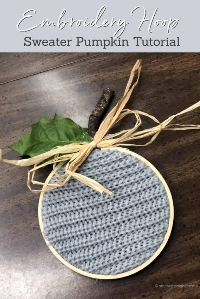 Embroidery Hoop Sweater Pumpkin Pin
