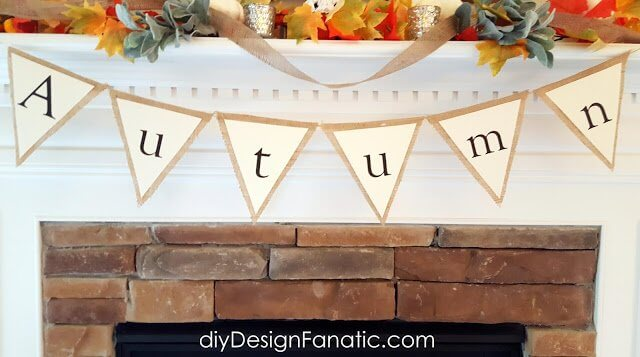diy autumn burlap banner