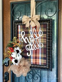 Fall Plaid Frame Wreath