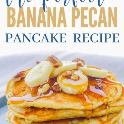 Easy Banana Pecan Pancakes