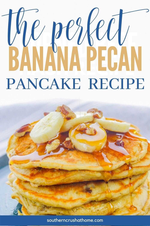 Banana Pecan Pancake Recipe PIN