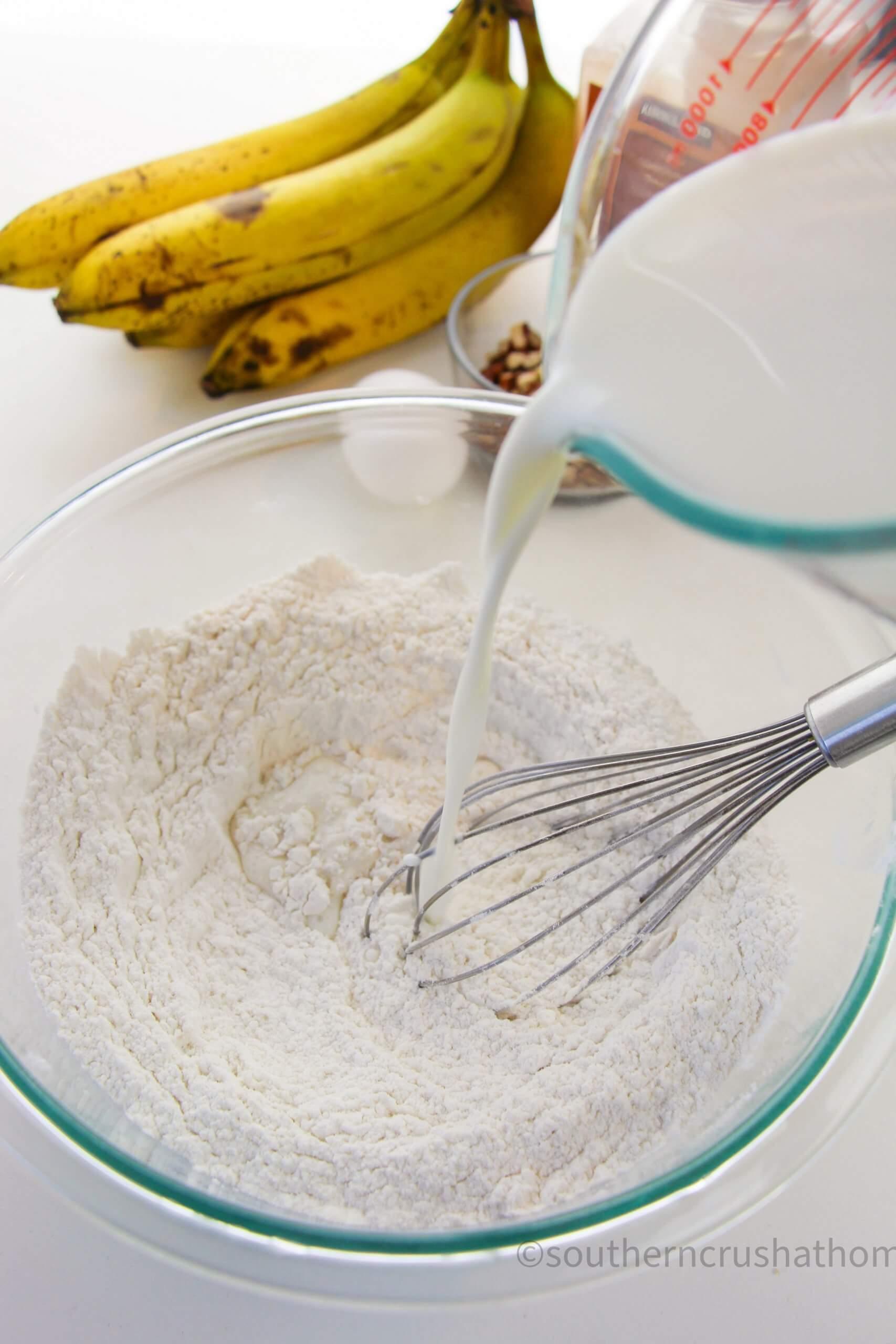 Banana Pecan Pancakes combine
