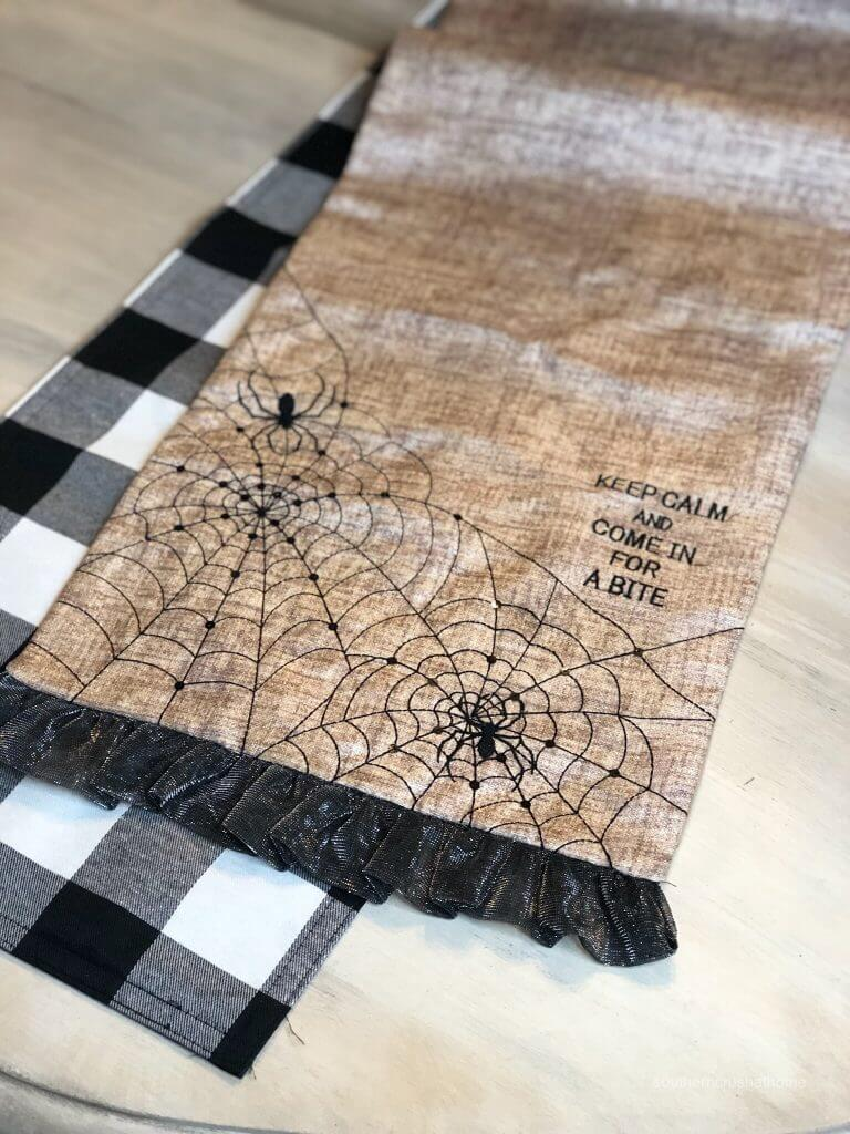 Close up of a Halloween Table Runner