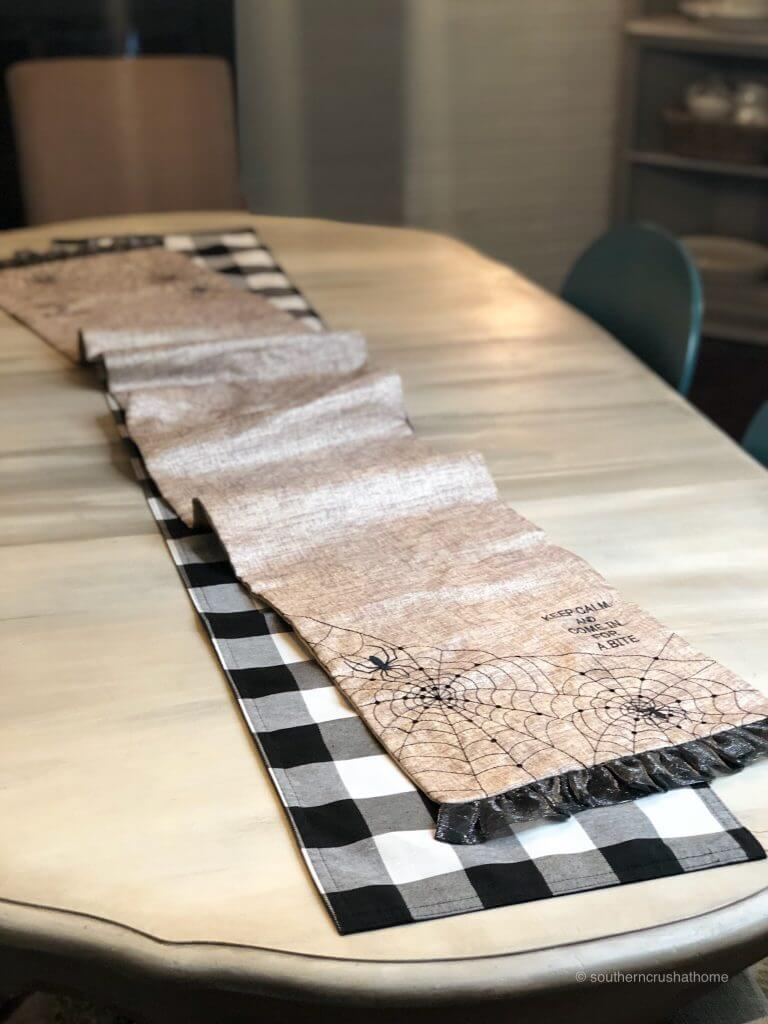 Two Table Runners for Halloween
