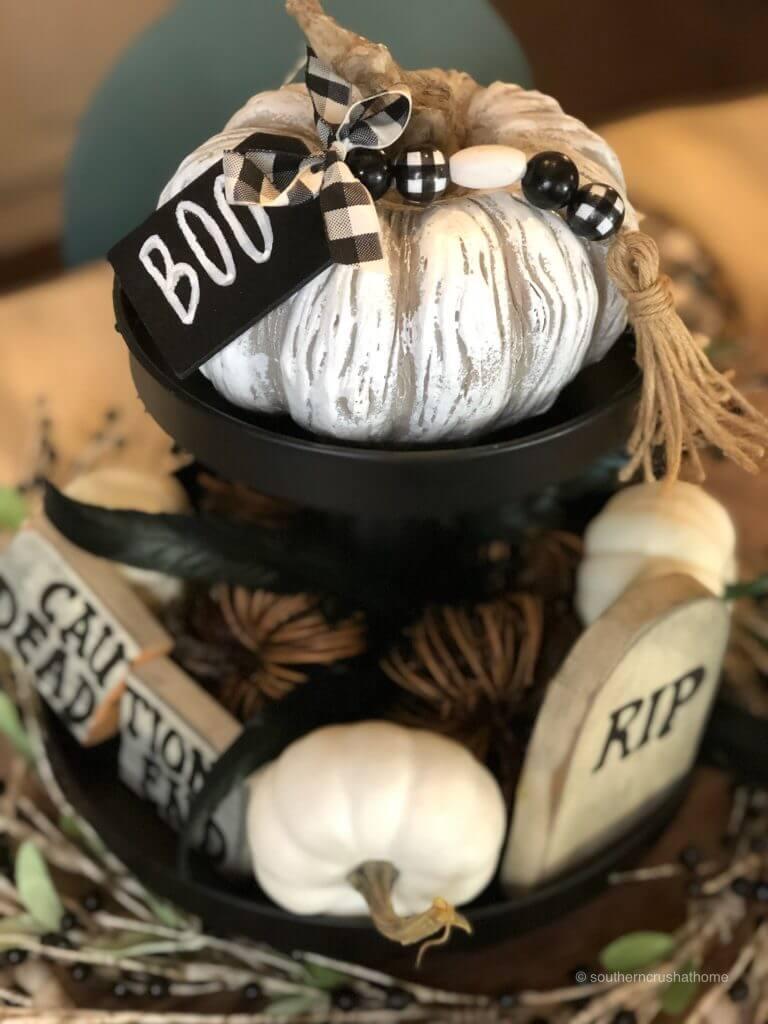 The centerpeice on a Halloween Table