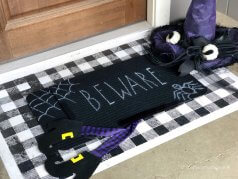 Halloween Stenciled Doormat DIY